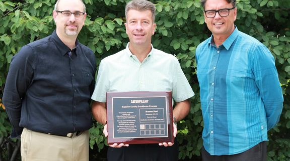 Caterpillar Awards BRANNON STEEL for Suppiler Quality Excellence